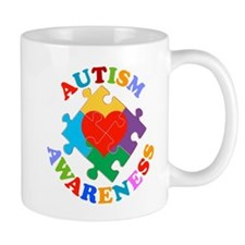 Autism Awareness Heart Mug