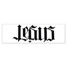 Jesus Christ Ambigram Bumper Sticker