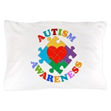 Autism Awareness Heart Pillow Case