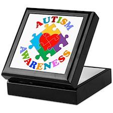 Autism Awareness Heart Keepsake Box