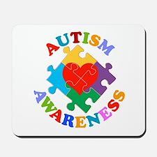 Autism Awareness Heart Mousepad