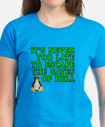 Escape the gates of hell - Women's Dark T-Shirt