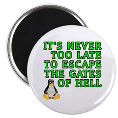 "Escape the gates of hell - 2.25"" Magnet (100 pack)"
