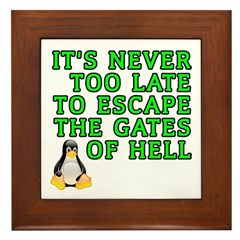 Escape the gates of hell - Framed Tile