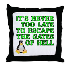 Escape the gates of hell - Throw Pillow