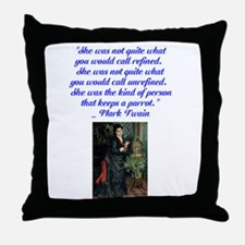 kind of person that keeps a p Throw Pillow