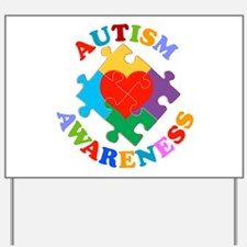 Autism Awareness Heart Yard Sign