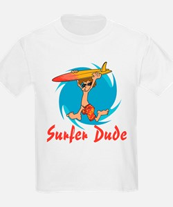 Surfer Dude Kids T-Shirt