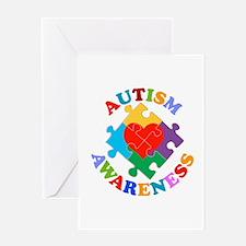 Autism Awareness Heart Greeting Card