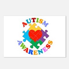 Autism Awareness Heart Postcards (Package of 8)