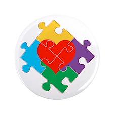 """Autism Awareness 3.5"""" Button (100 pack)"""