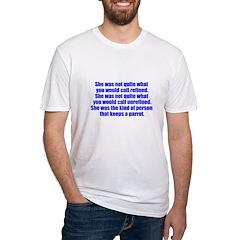 keeps parrot text only Shirt