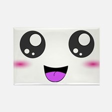 Happy Kawaii Smiley Face Rectangle Magnet