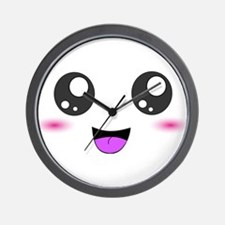 Happy Kawaii Smiley Face Wall Clock