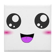Happy Kawaii Smiley Face Tile Coaster