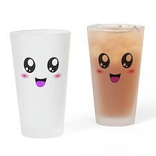 Happy Kawaii Smiley Face Drinking Glass