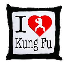 I Love Kung Fu Throw Pillow
