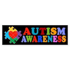 Autism Awareness Heart Bumper Sticker