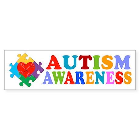 Autism Awareness Heart Sticker (Bumper 50 pk)
