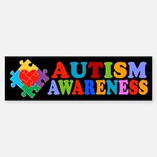 Autism Awareness Heart Bumper Bumper Sticker