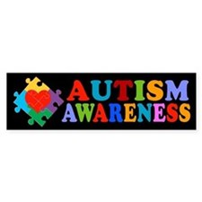 Autism Awareness Heart Bumper Sticker