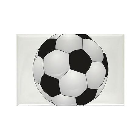 Soccer Ball Rectangle Magnet (10 pack)