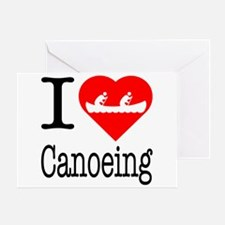 I Love Canoeing Greeting Card