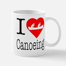I Love Canoeing Mug