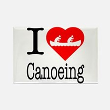 I Love Canoeing Rectangle Magnet