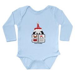 Reading Santa Long Sleeve Infant Bodysuit