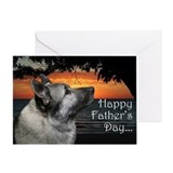 Norwegian elkhound Greeting Cards
