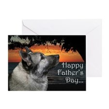 Norwegian Elkhound Father's Day Card