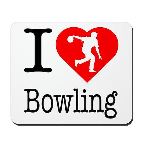 I Love Bowling Mousepad
