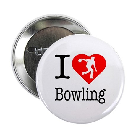 """I Love Bowling 2.25"""" Button"""
