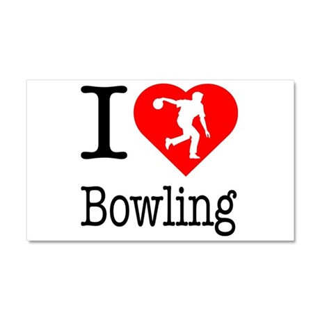 I Love Bowling Car Magnet 20 x 12