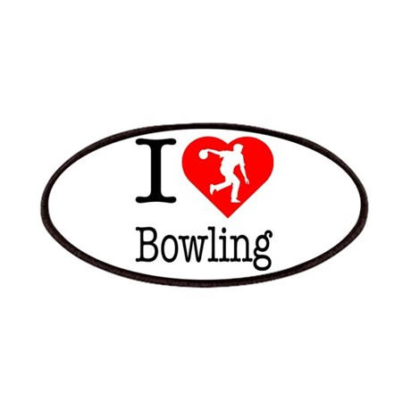 I Love Bowling Patches