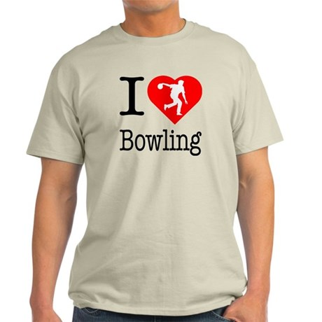 I Love Bowling Light T-Shirt