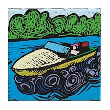 Motor Boat Tile Coaster
