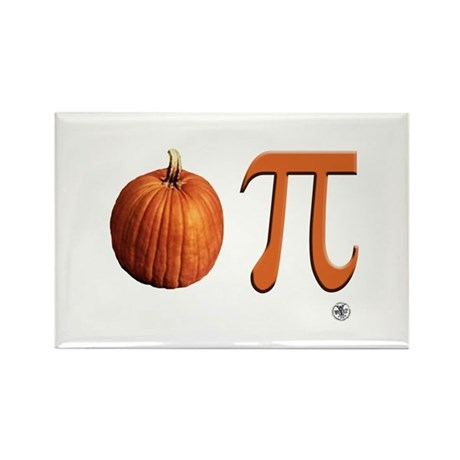 Pumpkin Pi Rectangle Magnet