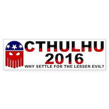 Cthulhu 2016 (bumper) Bumper Bumper Sticker