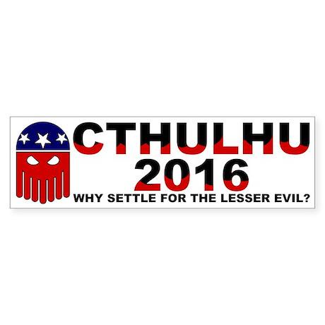 Cthulhu 2016 (bumper) Bumper Sticker