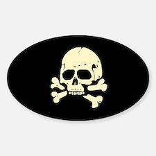 Totenkopf V Sticker (Oval)