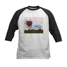 Dachshund In Blue Easter Bunn Tee