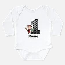 1st Birthday Pirate Long Sleeve Infant Bodysuit