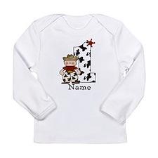 First Birthday Cowboy Long Sleeve Infant T-Shirt