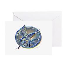 Silver Mockingjay Greeting Card