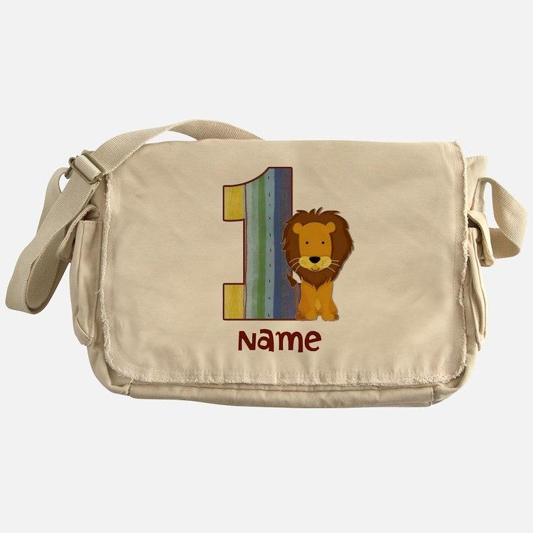 First Birthday Lion Messenger Bag