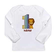 First Birthday Lion Long Sleeve Infant T-Shirt