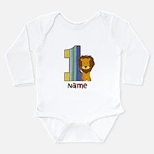 First Birthday Lion Long Sleeve Infant Bodysuit