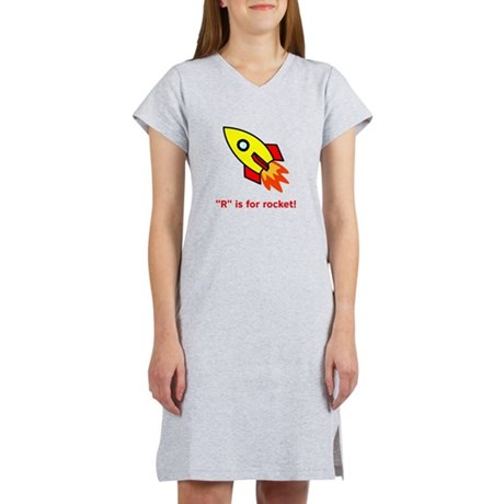 R is for Rocket Women's Nightshirt